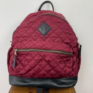Massimo Maroon Red Quilted Backpack